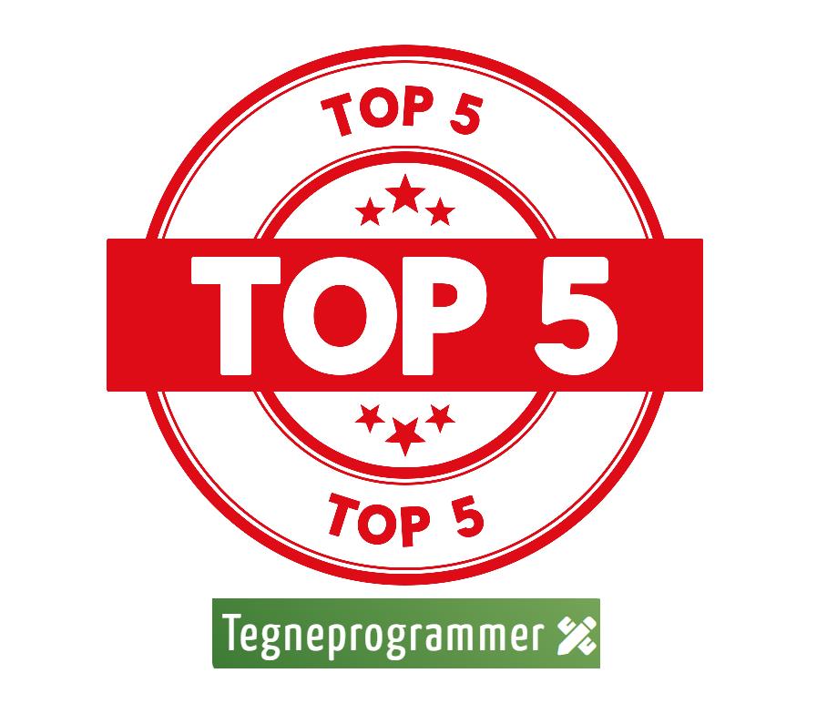 Vi har været igennem vores tegneprogrammer og har udkåret de 5 bedste!